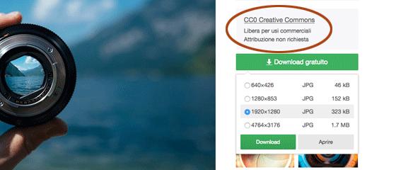scaricare immagini senza copyright